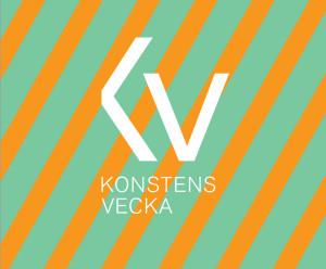 Logotypen med randig-bakgrund.